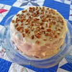 Paw Paw Cake Recipe with Bourobn Frosting and Pecans