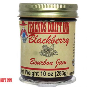Blackberry Bourbon Jam jar from Friends Drift Inn