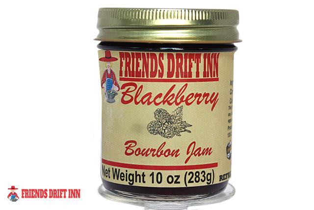 Blackberry Bourbon Jam jar from Friends Drift Inn