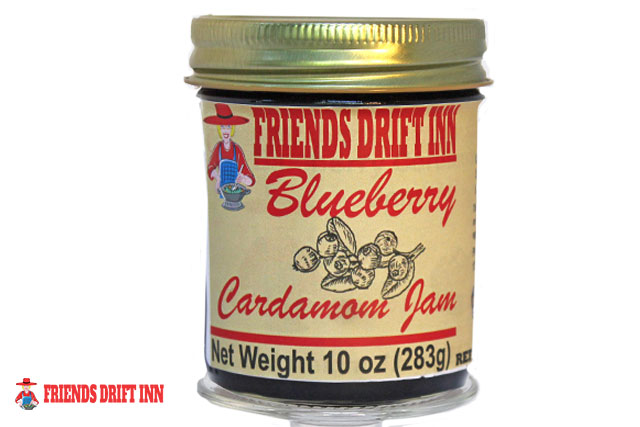 Blueberry Cardamom Jam jar by Friends Drift Inn