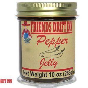 Jar of Pepper Jelly from Friends Drift Inn