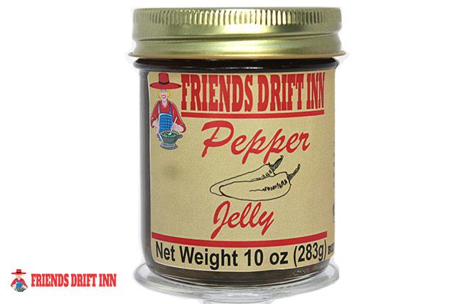 Jar of Pepper Jelly from Friends Drift Inn