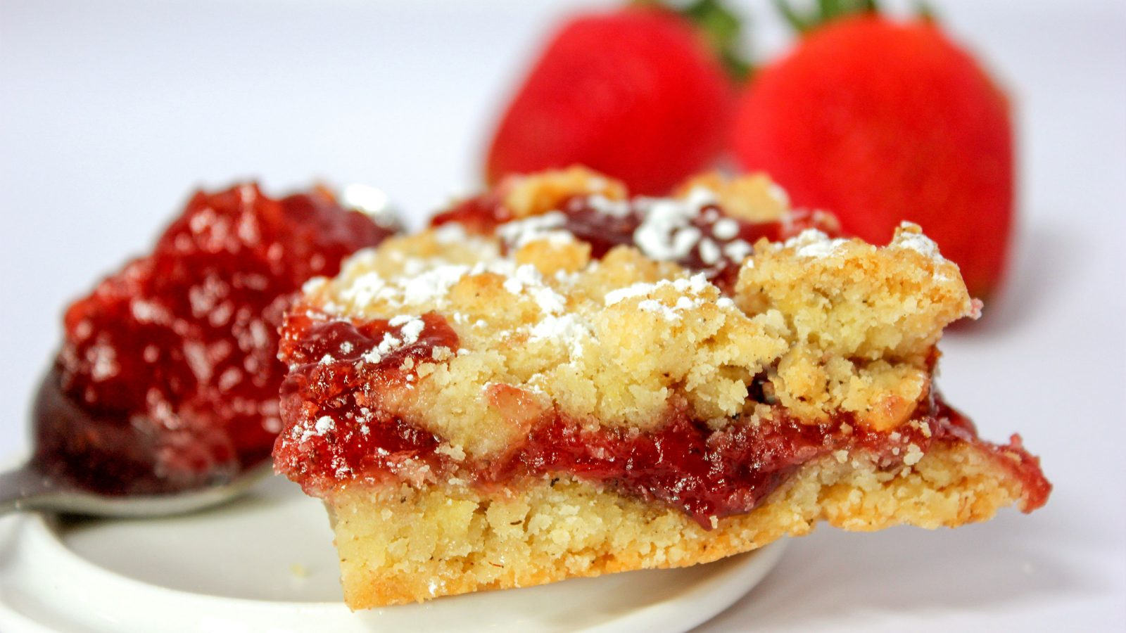 Strawberry Jam Bar Cookie Recipe
