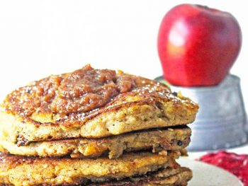 Apple butter pancakes stack