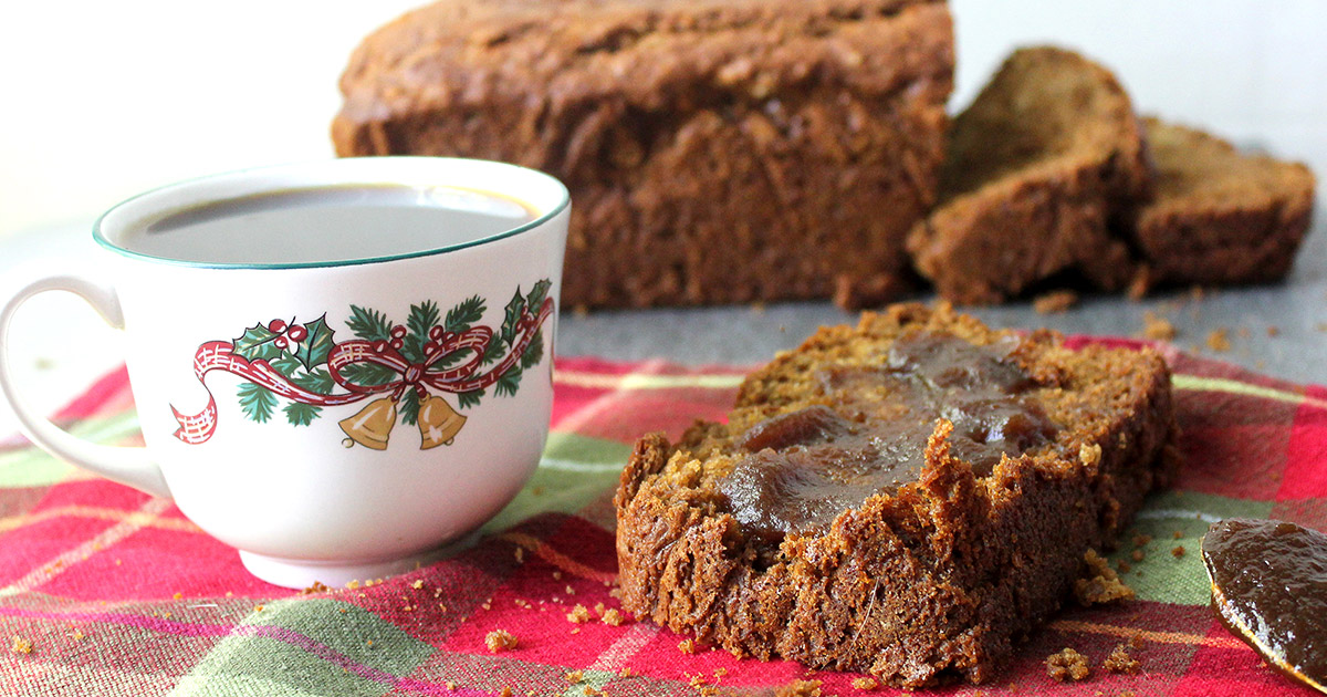Delicious Holiday Treat! Old Fashioned Apple Bread with Apple Butter