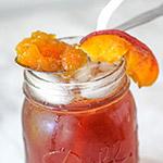 Peach Jam Sweet Tea Bourbon Cocktail Recipe Thumbnail