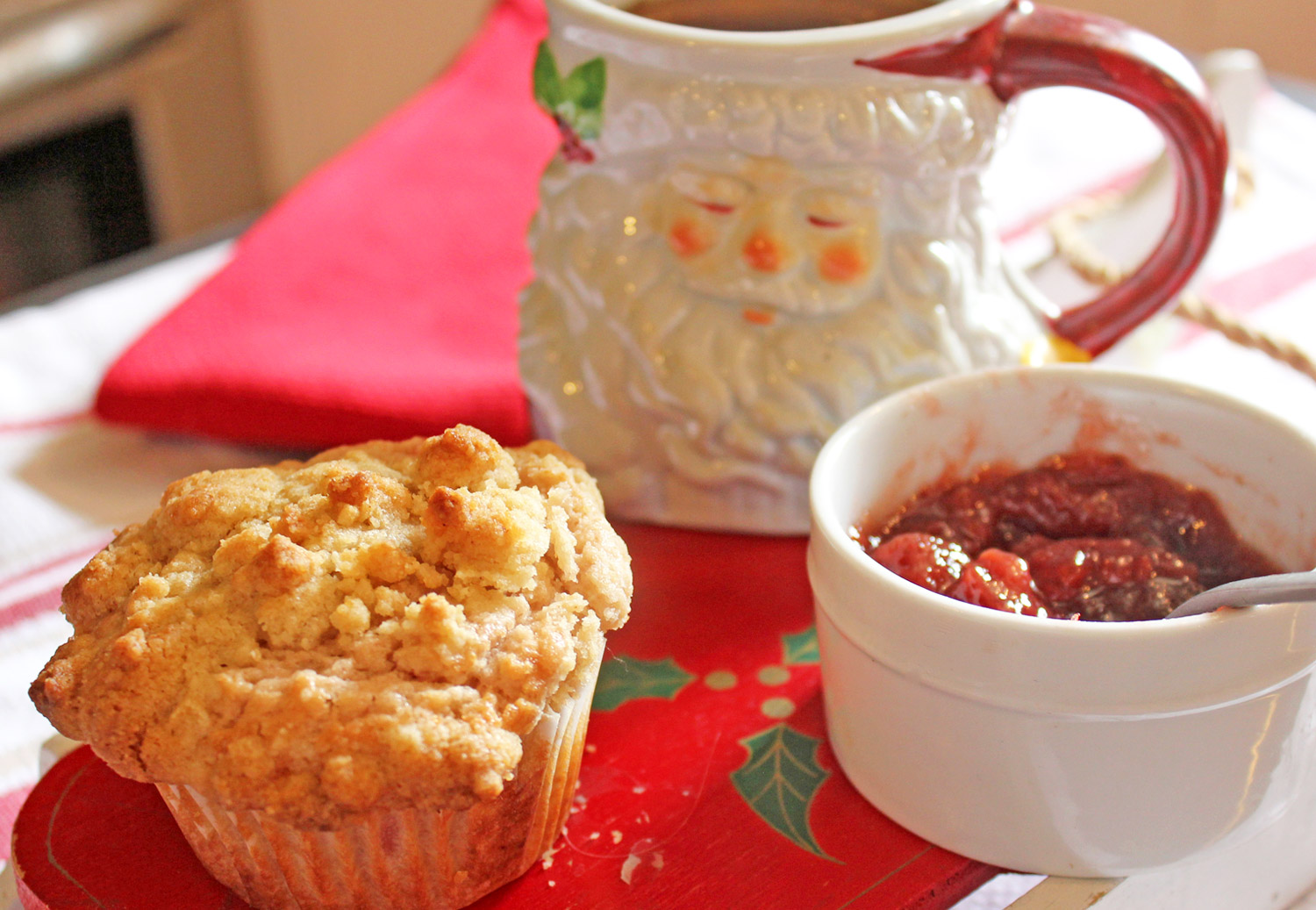 Strawberry Jam Muffin Recipe for Christmas