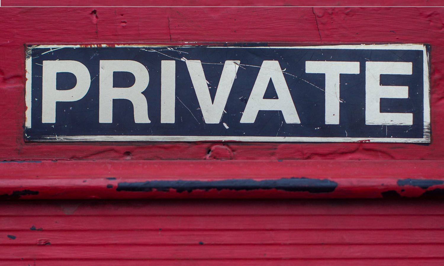 Private Sign on red barn