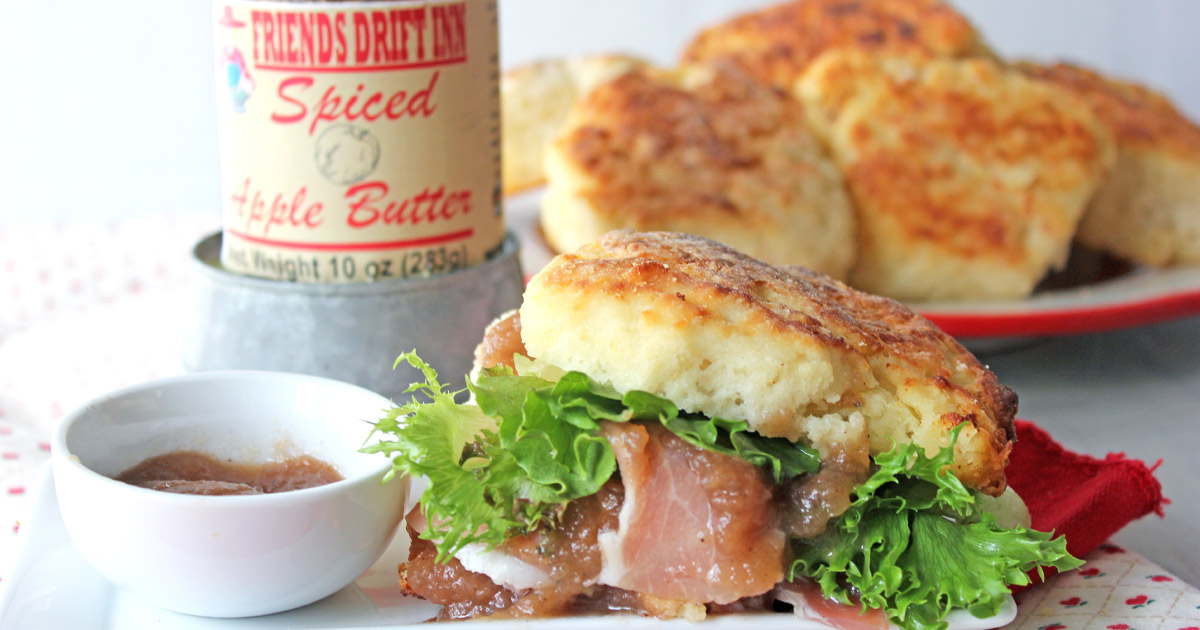 Apple Butter Ham Biscuits a Friends Drift Inn Recipe