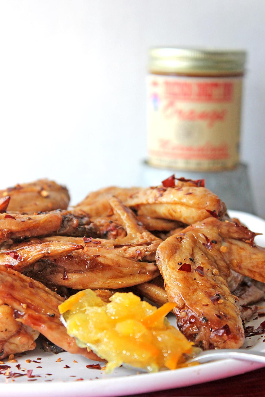 Chicken wings with Friends Drift Inn Orange Marmalade