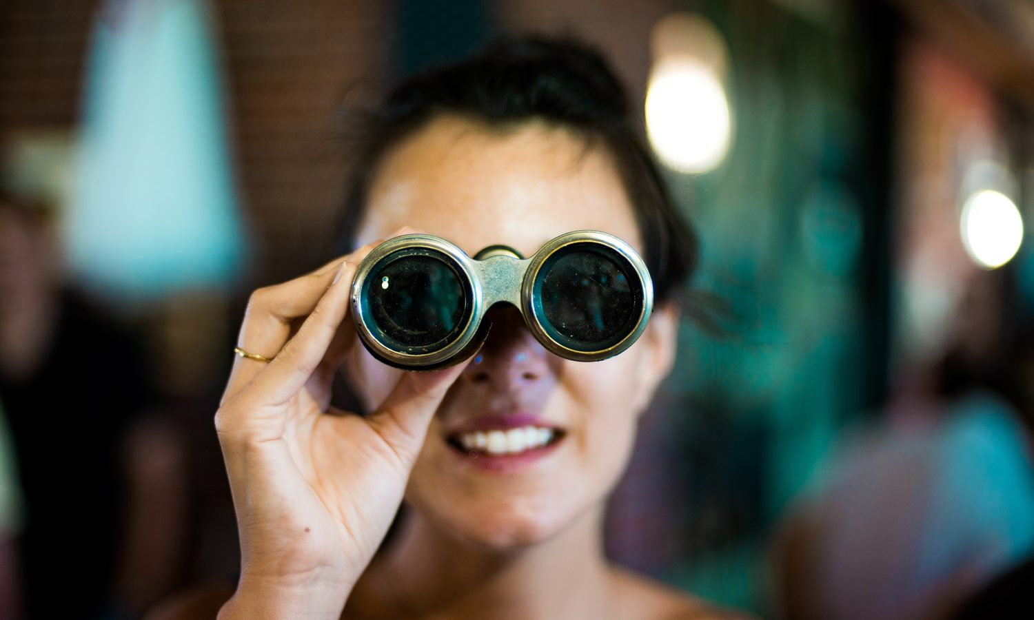 Woman with binoculars - our what is and how to category