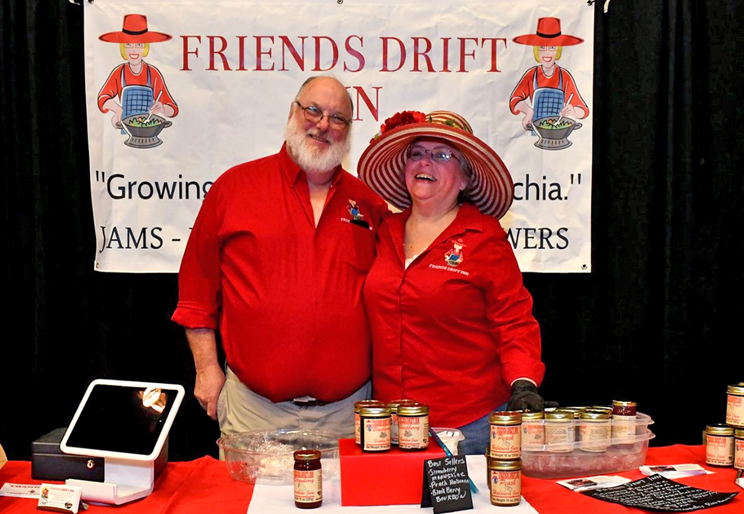 Charlie and Joyce Pinson, Friends Drift Inn Jams and Specialty Foods