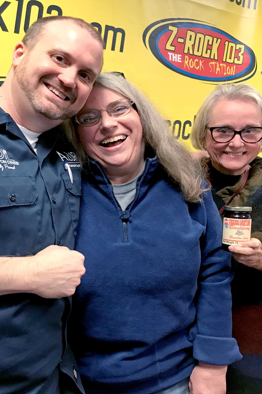 Chef Jeremy Ashby, Joyce Pinson, and Sylvia Lovely on Lexington's Z-Rock Food News and Chews
