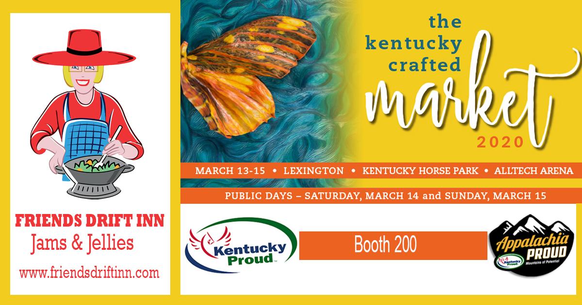 Friends Drift Inn will be at the 2020 Kentucky Crafted Market!
